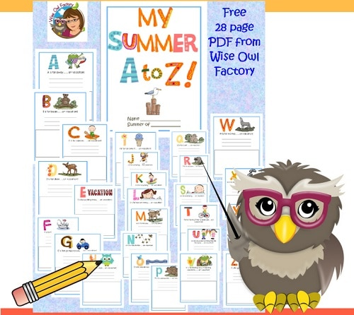 summer-writing-journal-for-children-a-to-z-activities
