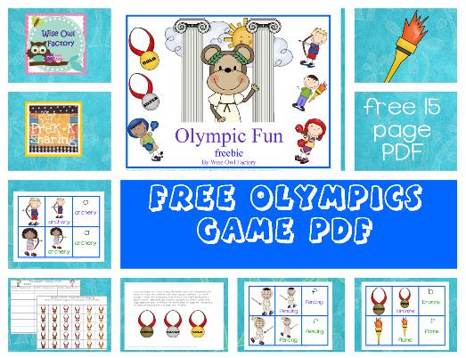 Free Matching Cards for the Summer Olympics
