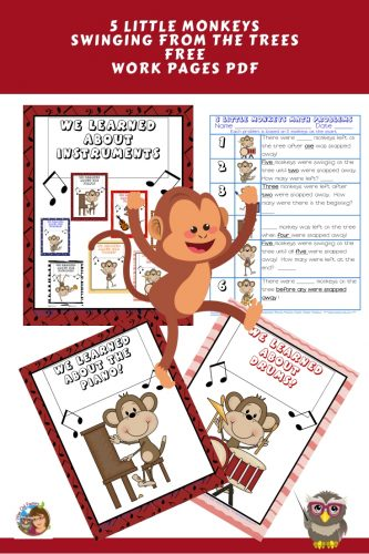 five-little-monkeys-work-page-and-discussion-teaching-posters-free-instant-download