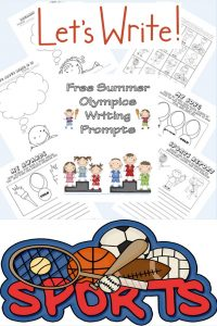 summer-sports-writing-frames-instant-download