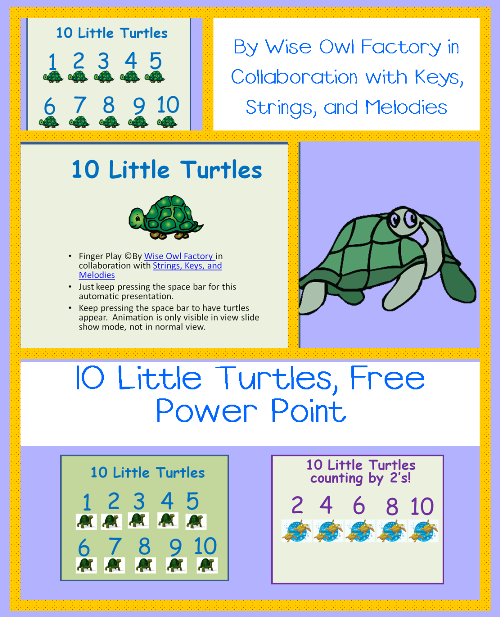 Free Ages of Animals PDF and 10 Little Turtles PPt