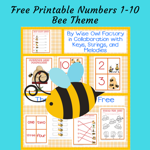 bee-theme-numbers-1-10-for-Pre-K-and-K-free