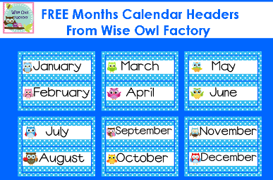 graphic about Free Printable Months of the Year known as Cost-free Owl Topic Clroom Printables Smart Owl Manufacturing unit