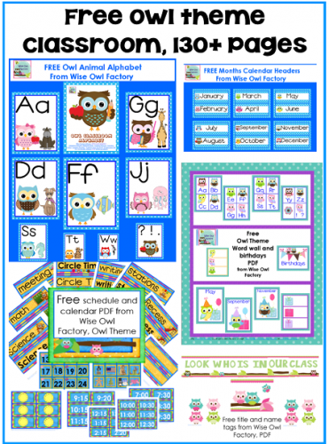 Classroom Ideas Printables ~ Free owl theme classroom printables wise factory