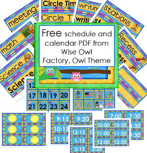 Free Owl Theme Schedule and Calendar PDF