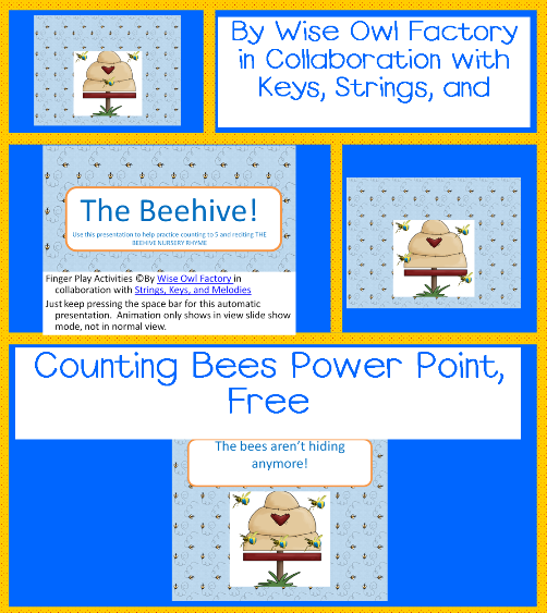 Free Printable Numbers 1-10 Bee Theme and free Power Point