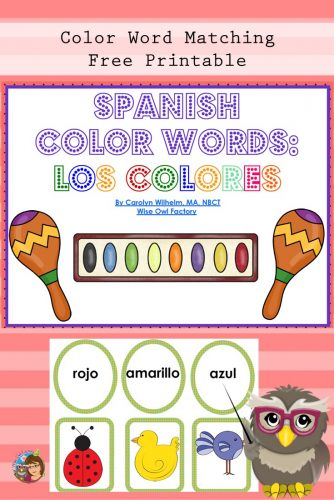 Spanish Color Words Free Pdf Los Colores