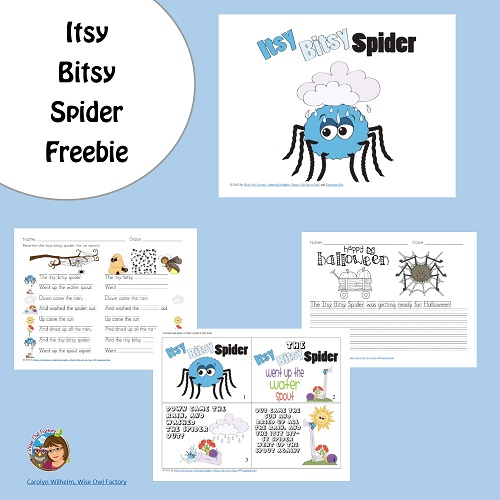 Free Printable for The Itsy Bitsy Spider