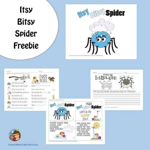 free-work-pages-itsy-bitsy-spider