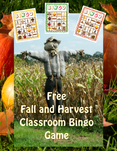 Fall and Harvest Class Bingo Free Printable