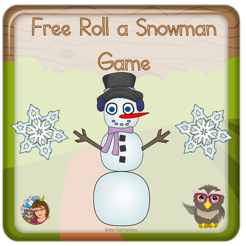 photo of activity pages in student printable for roll a snowman