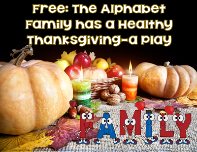 Thanksgiving Free Healthy A to Z Entire Class Play