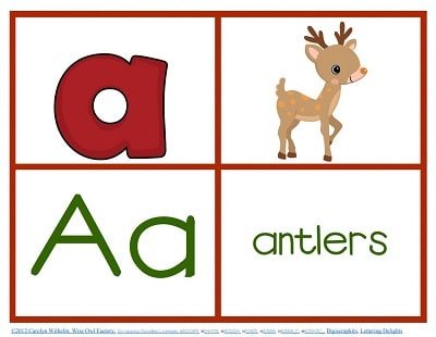 December-theme-alphabet-freebie