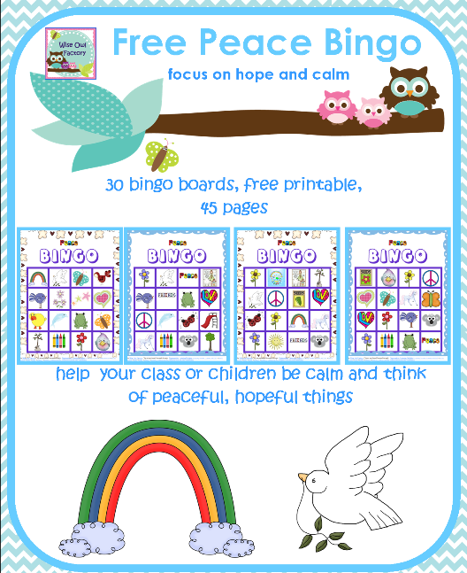 Peace Bingo for the Classroom Free Printable