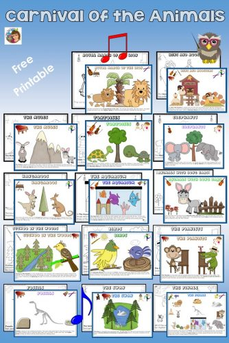 carnival of the animals activities in english and spanish free pdfs wise owl factory. Black Bedroom Furniture Sets. Home Design Ideas