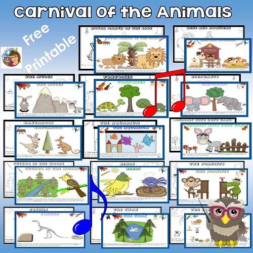 Carnival of the Animals activity for music classes