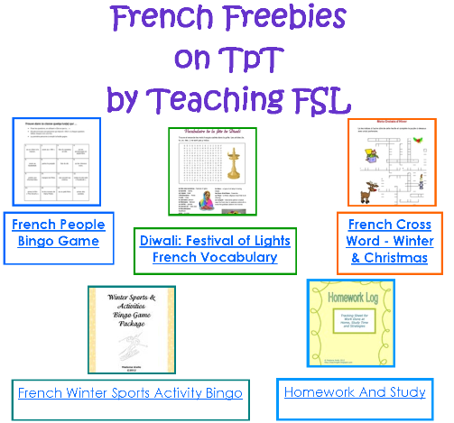 French Freebies on TpT by Teaching FSL