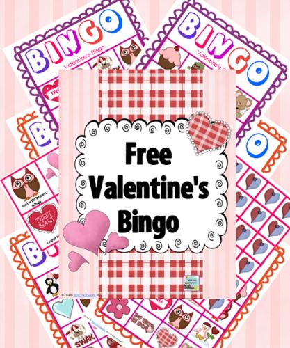 free Valentine's Bingo Game printable