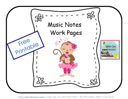 free music beats counting notes printable