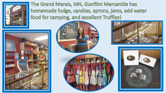 Grand Marais Gunflint Mercantile shop photos