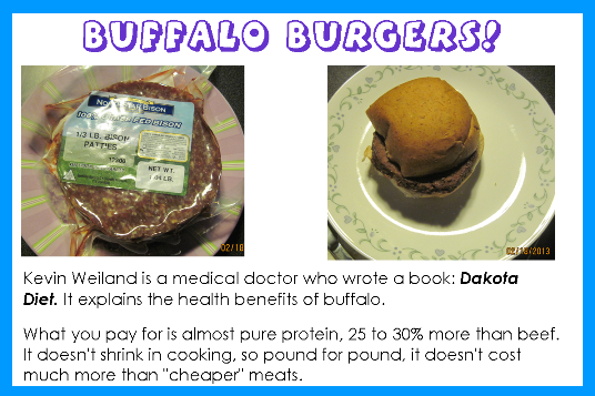 photo of buffalo meat and burgers