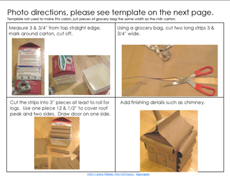 log cabin craft step by step directions