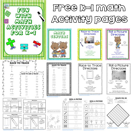 Visit to Sue Butter's Kindergarten Class Free K Math Printable