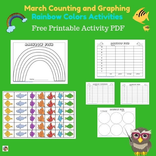 March-graph-and-count-rainbow-activity-free-instant-download -printable