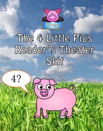free 4 little pigs reading play