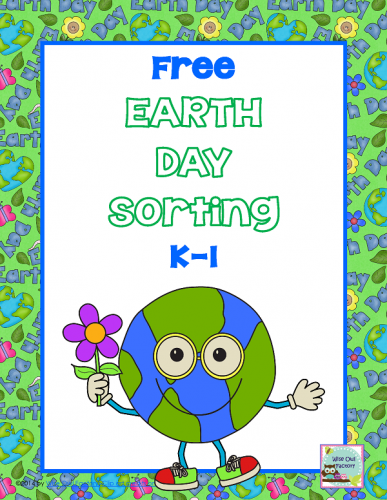 Free Earth Day Printable for K-1