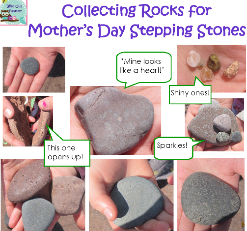 photo of rocks collected by the children