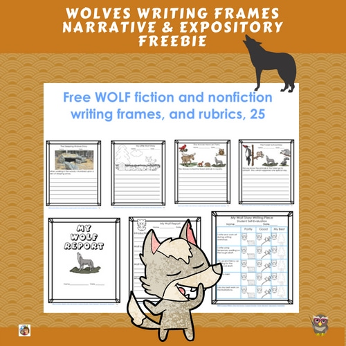 wolves-writing-frames-for-fiction-and-nonfiction-research-free-printable