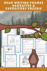 writing-frames-freebie-expository-and-narrative-bear-theme-printable