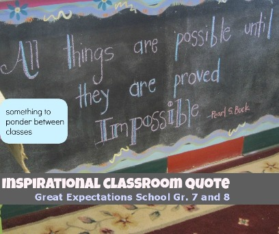 photo of quote on wall