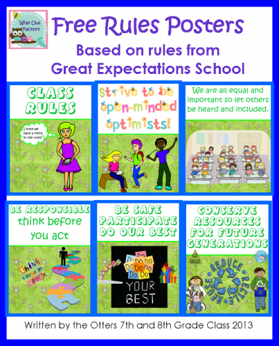 Promoting a Class Community Free Rules Printable