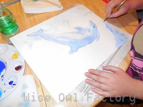 painting-a-dolphin-ocean-theme