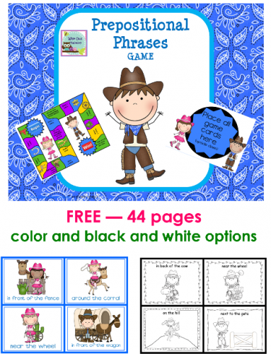 free western theme printable for CCSS.ELA-LITERACY.L.1.1.I