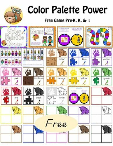Free Sequencing Cards and Color Matching for Pre K-K-1