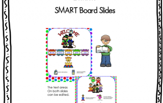 Free welcome back to school, 2 SMART Board slides, photo of pictures