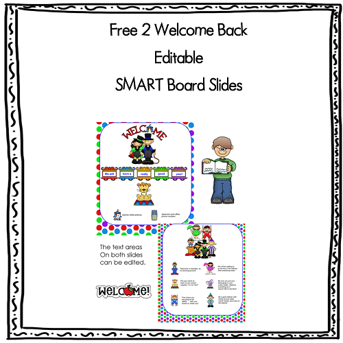 Free Welcome Back to School SMART Board Slides