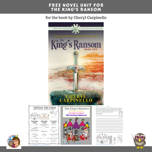 The-Kings-Ransom-novel-unit-freebie-for-book-by-Carpinello