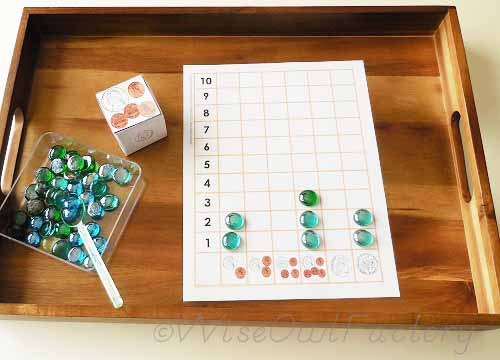 coin-activity-pre-k-and-k showing the free printable in use