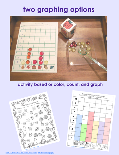 two-graphing-options for changing seasons free printable