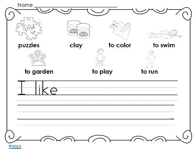 I-like-sentence-writing-page-kindergarten