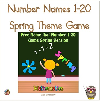 number-names-spring-theme-free-PDF