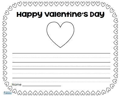 valentine-writing-page-kindergarten-pack