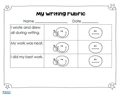 writing-rubric-kindergarten-writing-pack