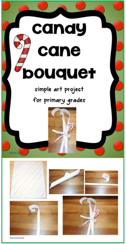 Candy Cane Bouquet Craft for Primary Grades