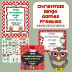 Christmas Printables and Class Bingo Games Free PDFs