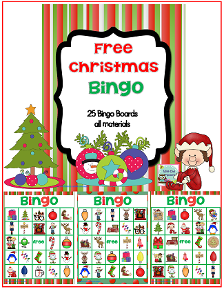 free Christmas Bingo game